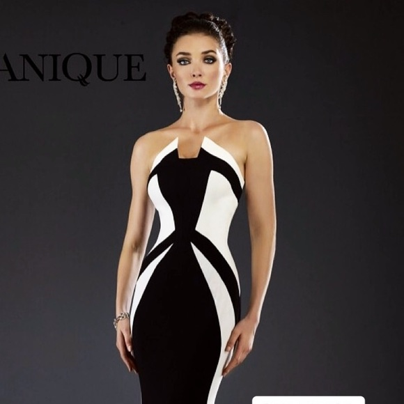 acb0d79a1 New York Dress Dresses | Black White Evening Gown Janique | Poshmark